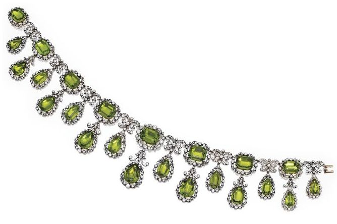 1870 Peridot Necklace
