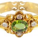 1880s Victorian Peridot & Diamond Bracelet