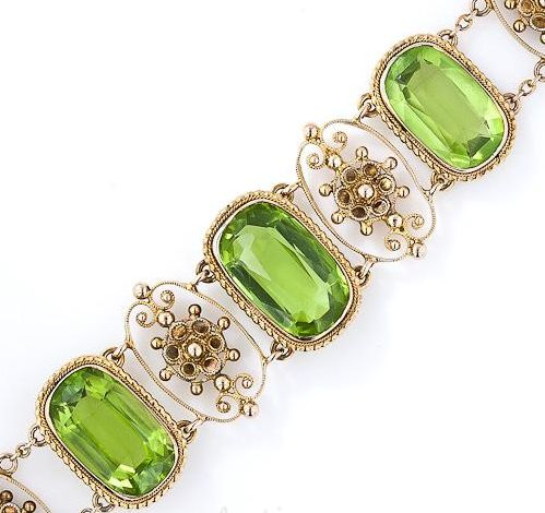 19th Century Peridot Bracelet