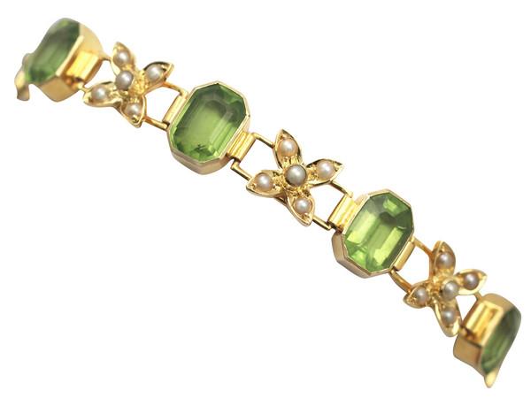 Victorian Peridot & Pearl Bracelet