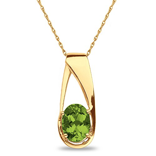 necklace peridot stm natural necklaces in sterling silver